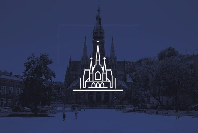 System wayfindingu – Parafia pw. św. Józefa w Krakowie